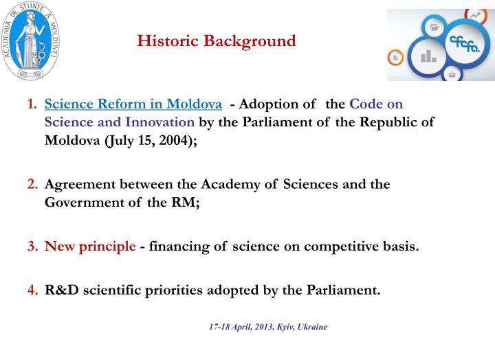 Historic Background