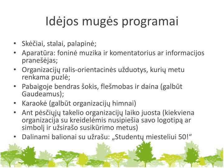 Idėjos mugės programai