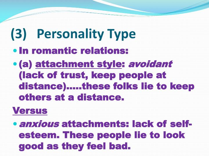 (3)   Personality Type
