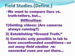 field studies define