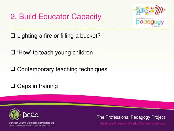2. Build Educator Capacity