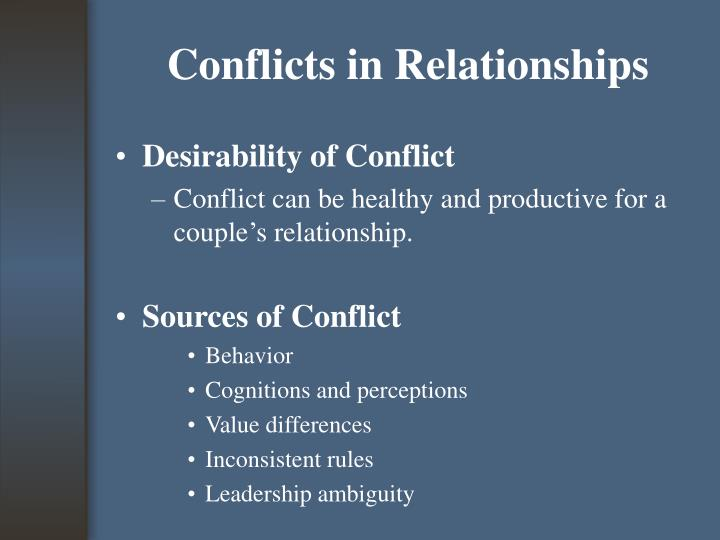 Conflicts in Relationships