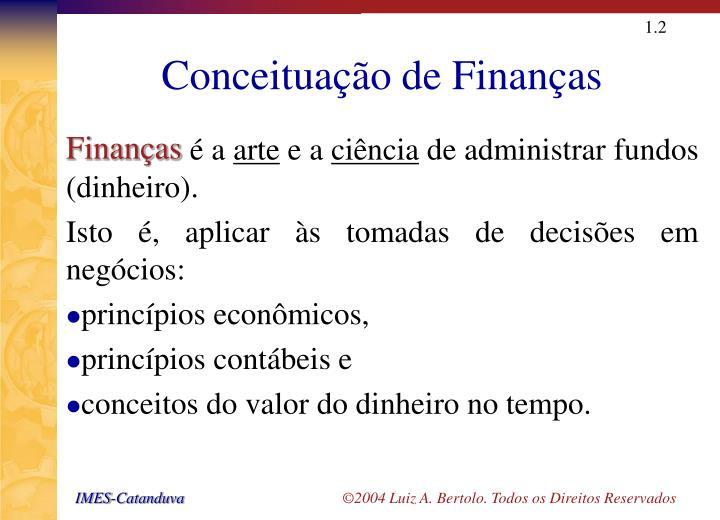 Conceituação de Finanças