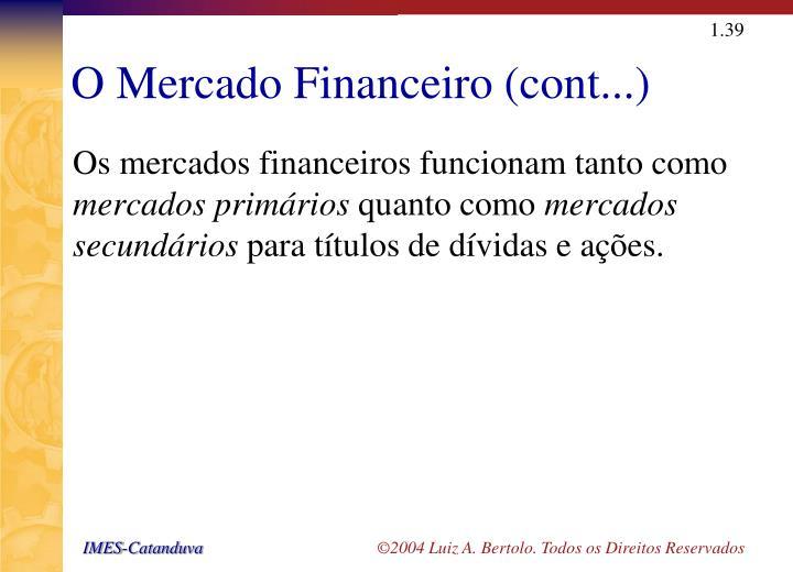 O Mercado Financeiro (cont...)