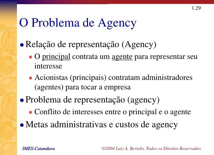 O Problema de Agency