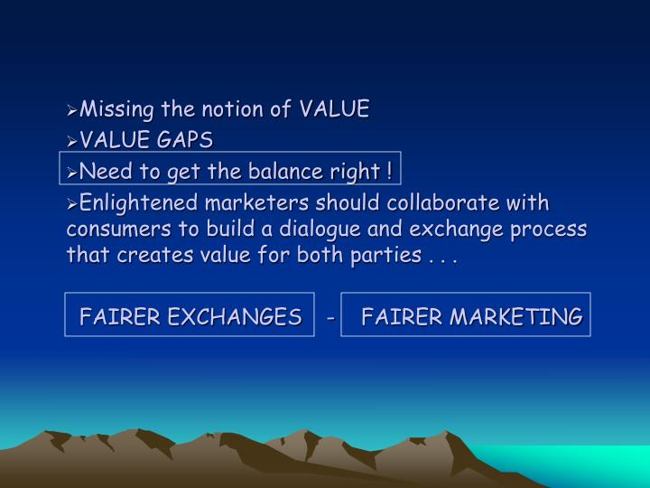 Missing the notion of VALUE