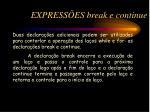 express es break e continue