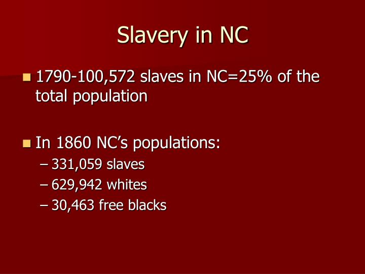 Slavery in NC
