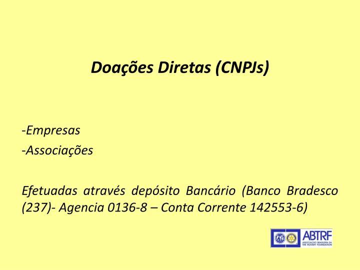 Doações Diretas (CNPJs)