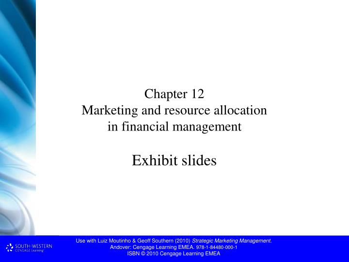 financial aspects of marketing management chapter 2