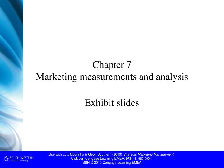 Chapter 7 marketing measurements and analysis