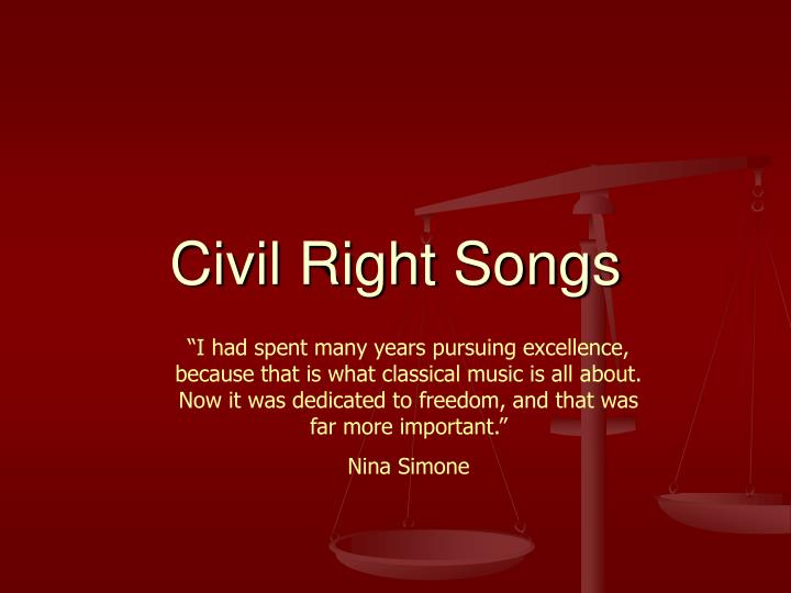 Civil Right Songs