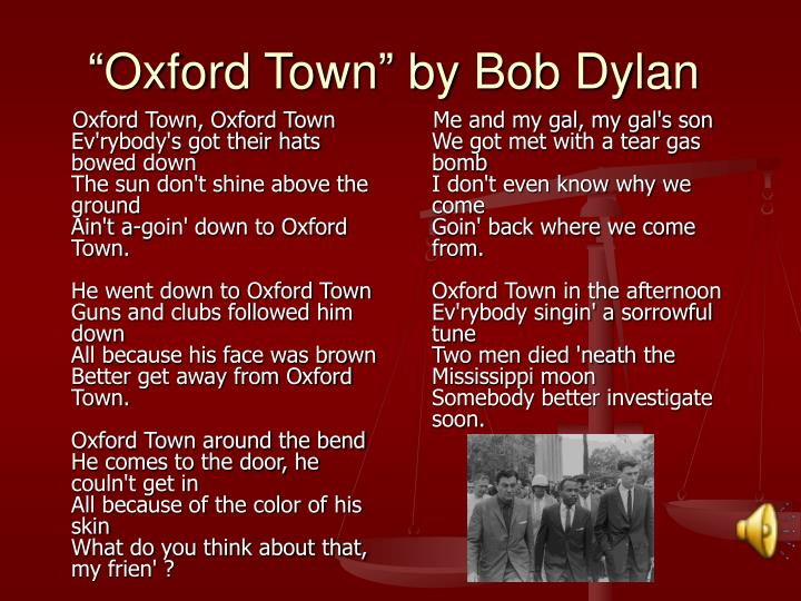 Oxford Town, Oxford Town