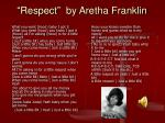 respect by aretha franklin