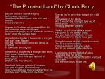 the promise land by chuck berry