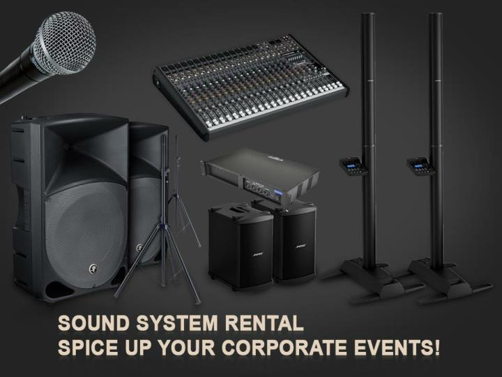 sound system rental spice up your corporate events