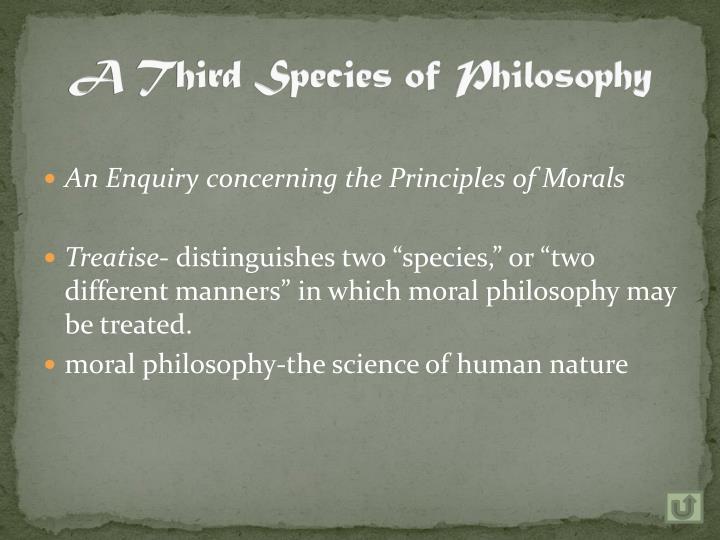 A Third Species of Philosophy