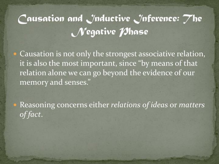 Causation and Inductive Inference: The Negative Phase