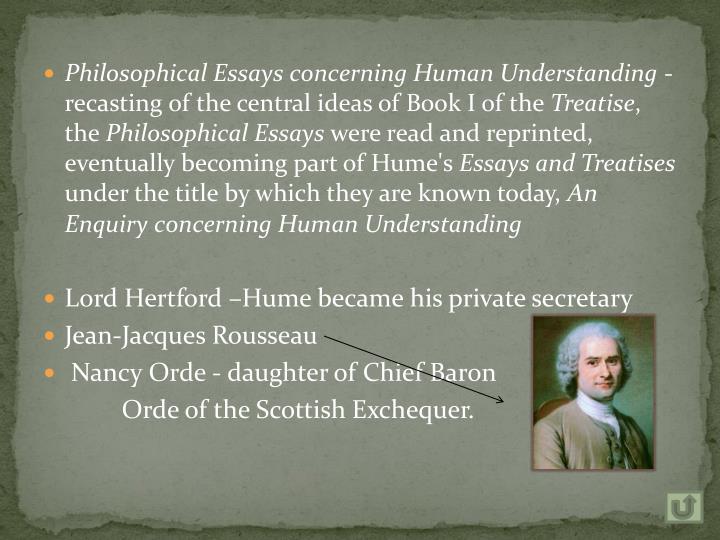 Philosophical Essays concerning Human Understanding