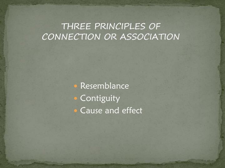 THREE PRINCIPLES OF