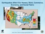 earthquakes affect our homes work commerce economy and social fabric