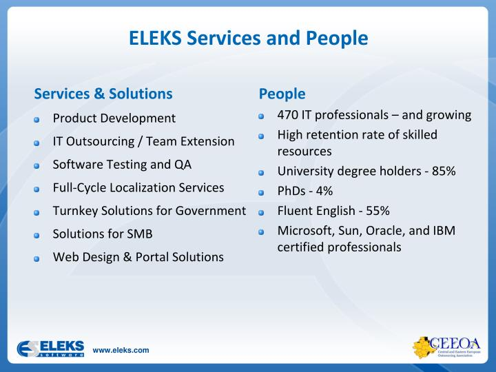 ELEKS Services and People