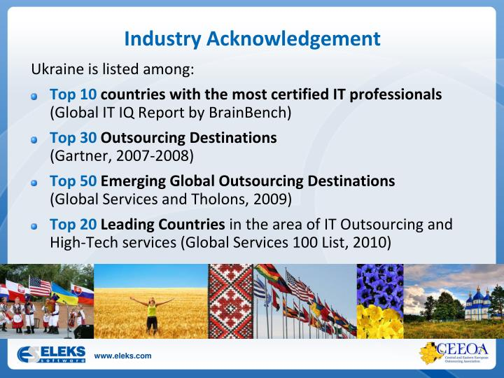 Industry Acknowledgement