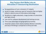 key factors that make lviv an attractive it outsourcing destination