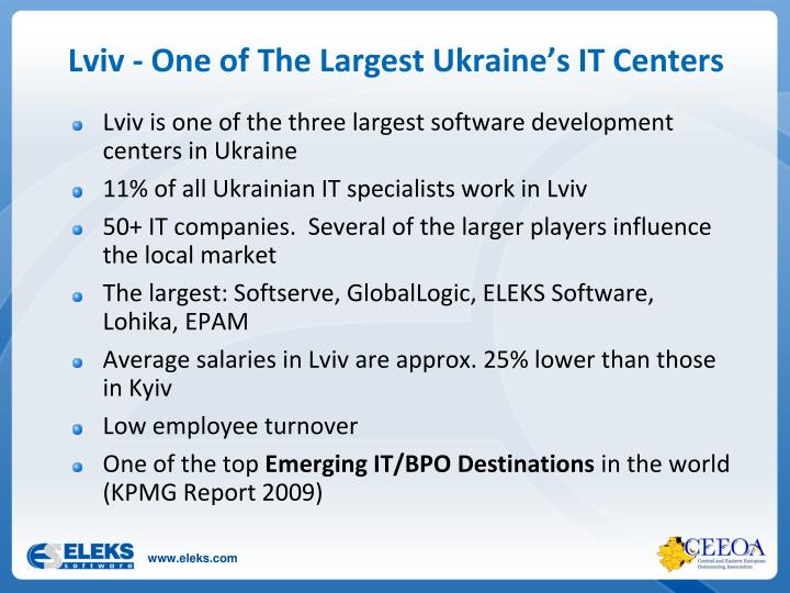 Lviv - One of The Largest Ukraine's IT Centers
