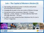 lviv the capital of western ukraine 2