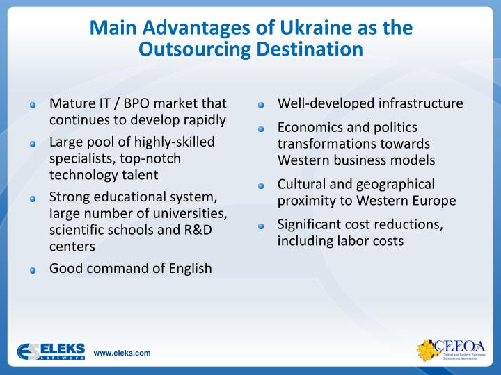 Main Advantages of Ukraine as the Outsourcing Destination