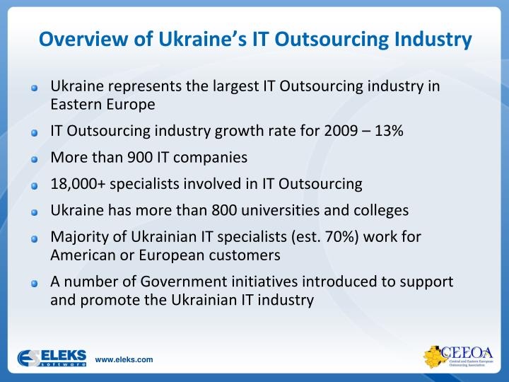 Overview of Ukraine's IT Outsourcing Industry
