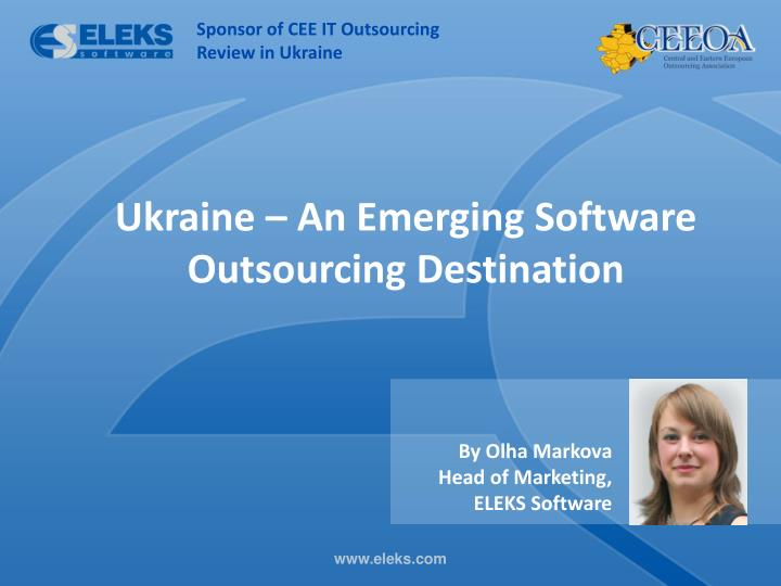 Sponsor of CEE IT Outsourcing Review in Ukraine