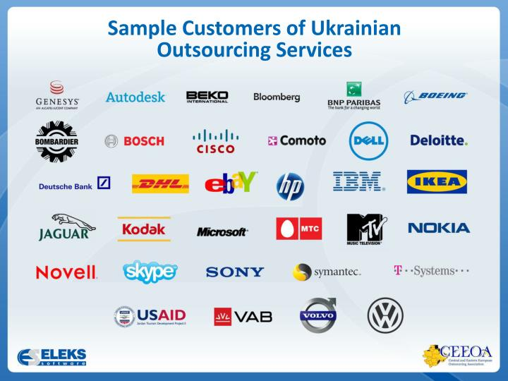 Sample Customers of Ukrainian