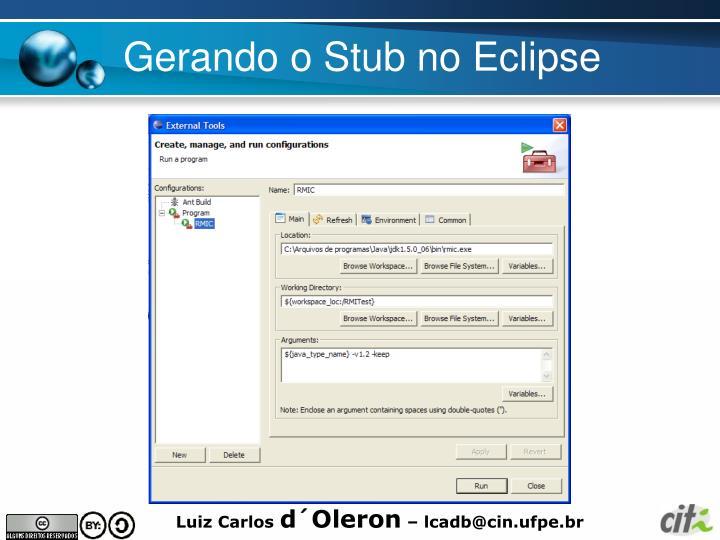 Gerando o Stub no Eclipse