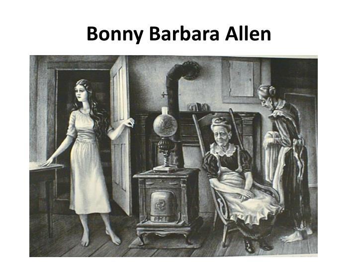 Bonny Barbara Allen