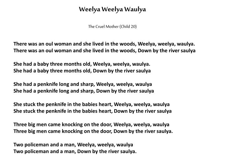 Weelya Weelya Waulya