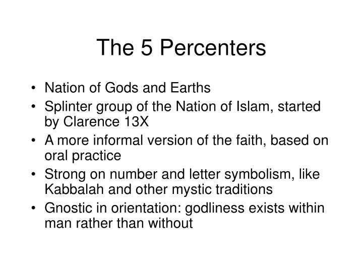 The 5 Percenters