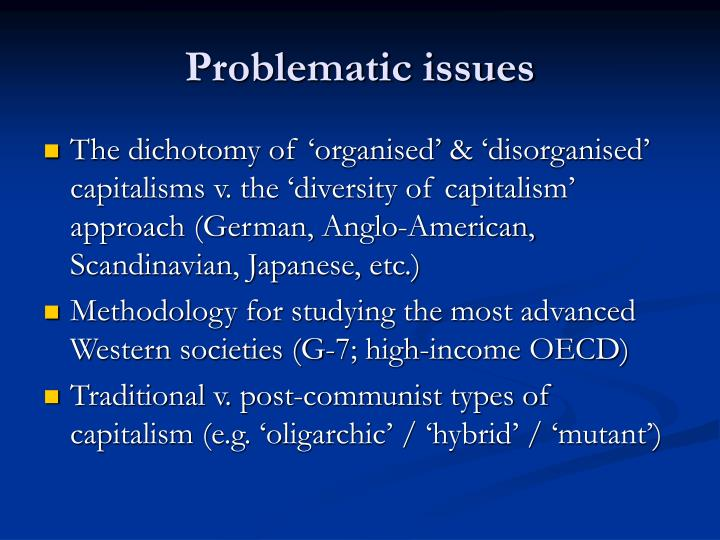 Problematic issues