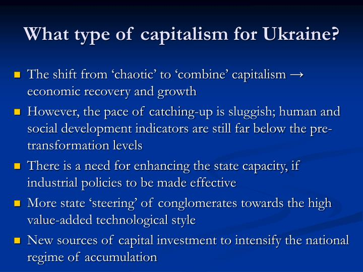 What type of capitalism for Ukraine?