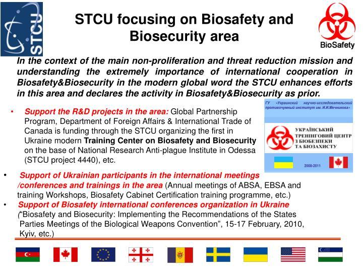 STCU focusing on Biosafety and Biosecurity area
