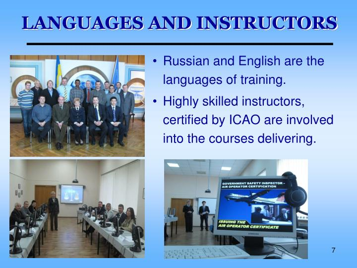 LANGUAGES AND INSTRUCTORS