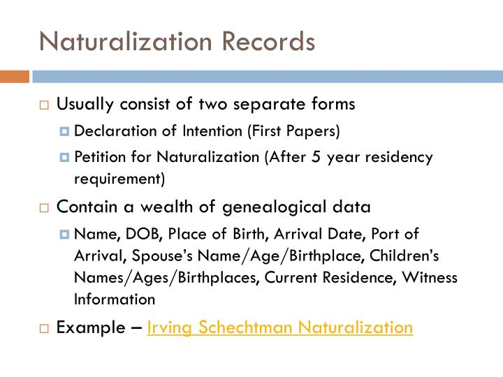 Naturalization Records