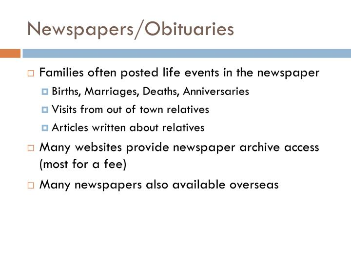 Newspapers/Obituaries