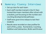 numeracy fluency interviews