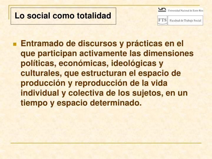 Lo social como totalidad