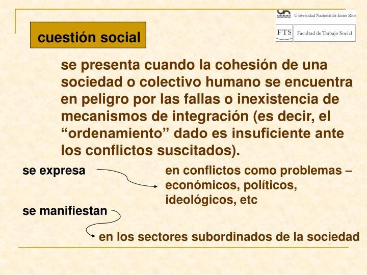 cuestión social