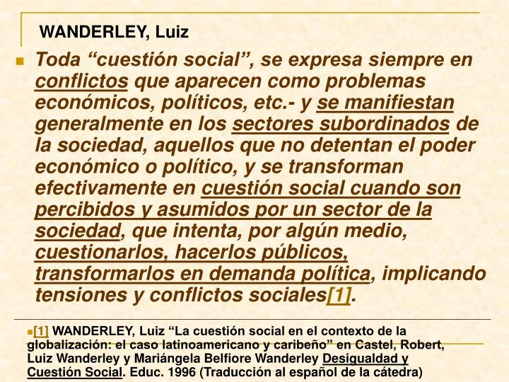 WANDERLEY, Luiz