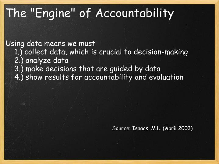"""The """"Engine"""" of Accountability"""