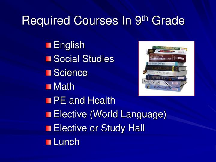 Required Courses In 9